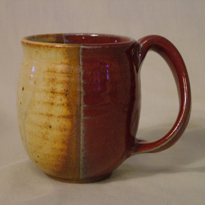 a Mug yellow red